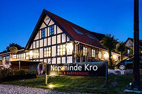 NORSMINDE KRO nær Aarhus - Sublimt 4* ophold med middag, vinmenu og entré til AROS.