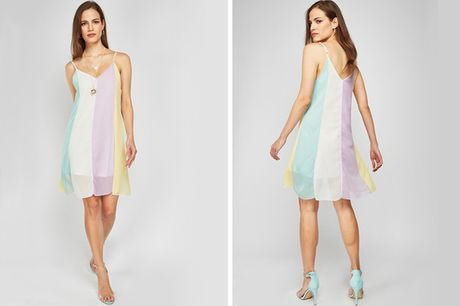 £1.99 for a rainbow beach swing dress from Cascabelle - save 88%