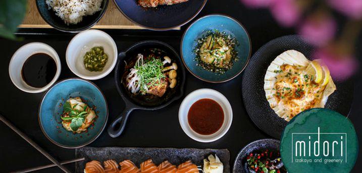 11 anretninger på Midori. Japansk gourmet ud over det sædvanlige - evt. med Sake-menu