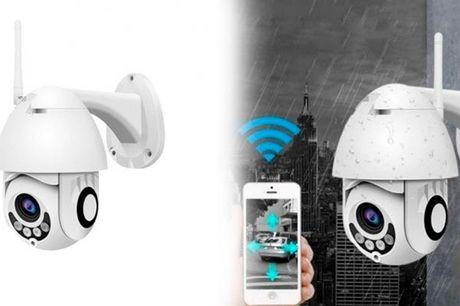 Udendørs overvågningskamera med WiFi styret via app i mobilen.