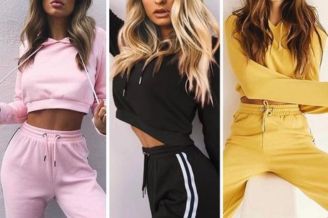 £12.99 instead of £39.99 for a women's co ord tracksuit set in yellow, red, black, pink or wine red from Pink Pree - save 68%