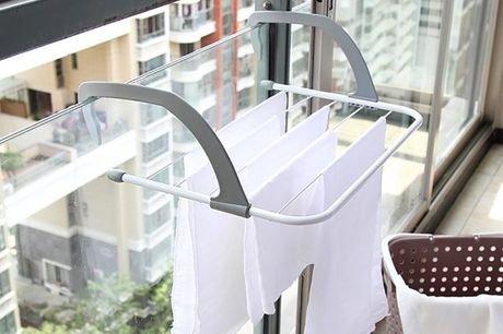 £9.99 for a balcony or radiator clothes drying rack from Pink Pree