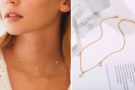 £3.99 instead of £12.99 for a triple star necklace from Backtogoo - save 69%