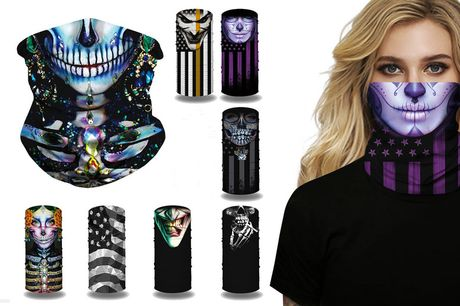 £4.99 instead of £18 for a printed neck and face cover, £7.99 for two, £12.99 for four from Topgoodchain!