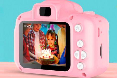 Kreativt digitalt minikamera der både kan tage billeder og videoer