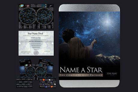£9.99 for a Name a Star gift tin from Star Name Registry!