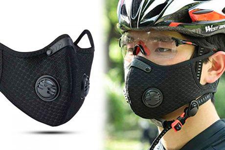 Udendørs sports-maske i genanvendeligt og behageligt design