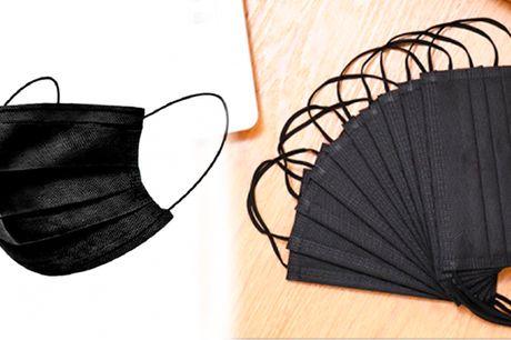 Behagelig og beskyttende engangsmaske af ikke-vævet stof med 3-lags filter