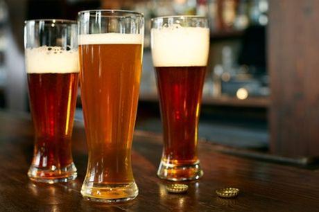 2 Std. Biertour mit Guide und je 3 Hamburger Bieren für bis zu 4 Personen mit Jolly Events (bis zu 23% sparen*)