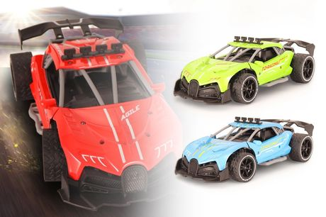 £26.99 instead of £69.99 for a remote control car in blue, green, grey, red or yellow from VendinPlus - save 61%
