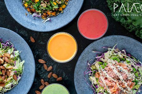 2 for 1 hos PALÆO.  2 store, valgfrie salater:  De gør det nemt at leve sundt og lækkert