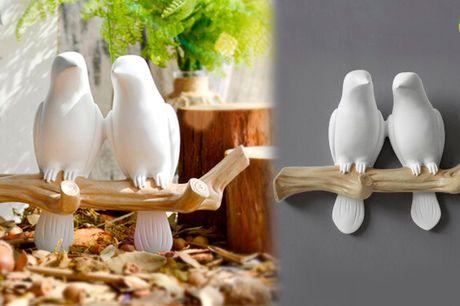 Søde dekorative fugle der kan holde dine nøgler, håndklæder og meget mere
