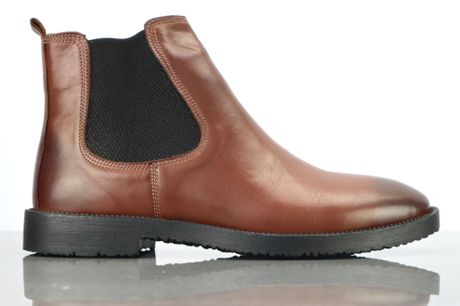 Drejoe Chelsea Brun. Chelsea støvleri læder kvalitet, alm. størrelse