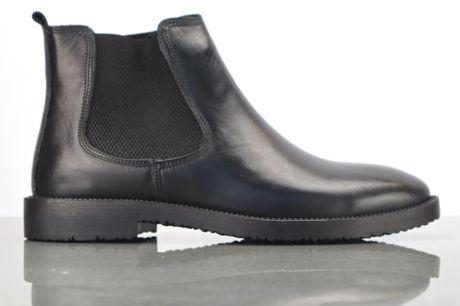 Drejoe Chelsea Sort. Chelsea støvleri læder kvalitet, alm. størrelse