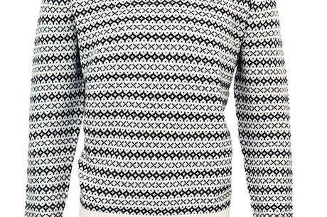 Uld strik Herre. Herre uld strik i islandsk look 80% uld 20% acryl  Se smart ud i enten en klassik lys strik med orange kant, eller få den i sort.
