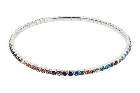 £5.99 instead of £35 for a multicoloured ankle tennis bracelet from Your Ideal Gift - save 83%