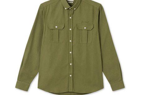 forét - Lunar skjorte i armygrøn