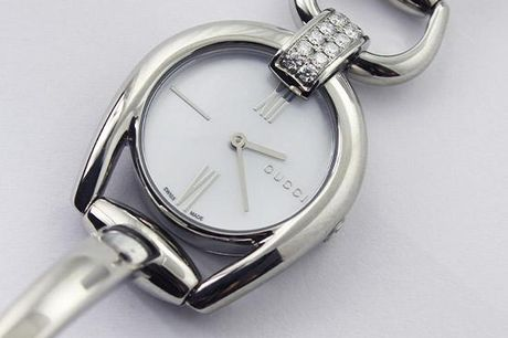 Gucci Dameur - Horsebit Small White Mother of Pearl Dial
