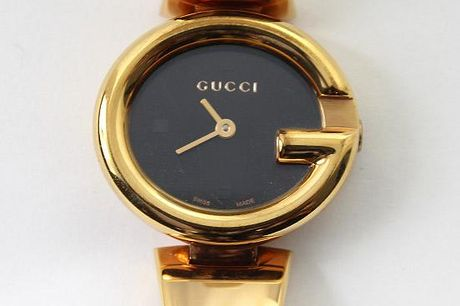 Gucci Dameur - Gucci Guccissima Black Dial Rose Gold PVD