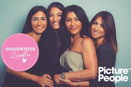 Geschwister-Special: Fotoshooting bei PicturePeople + Make-up, 2-4 Bildern (Ausdruck&Datei) (bis zu 78% sparen*)