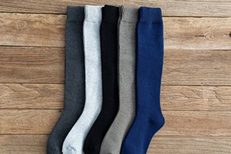 Lune og behagelige støttestrømper i uld til herrer. Flere størrelser og farver.