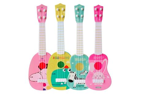 £9 instead of £19.99 for a children's ukulele guitar from Secret Storz - save 55%