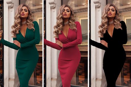 £11.99 for a women's bodycon wrap dress in UK sizes 10-18 from Domo Secret