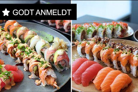 Sushi på Østerbro - Restaurant eller som takeaway - Hvilken menu skal det være - den med 36 stk. inkl. starters eller den med 44 stk. inkl. starters. MUMS. Værdi op til kr. 632,-