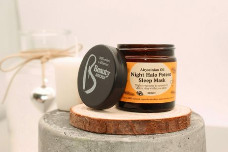 £8 instead of £19.99 for a 60ml tub of Night Halo sleep mask from Beauty Kitchen - save 60%
