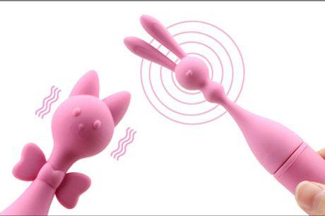 Legetøj til voksne - populær rabbit vibrator - Ren nydelse - glæd dig til at lege med dine nye venner. Du får 1 stk. vibratorsæt med en rabbit og en kat. Værdi kr. 598,-
