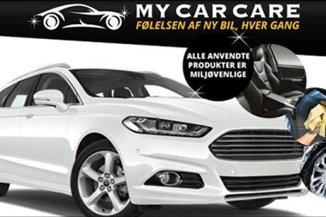 Bilpleje - super pris med denne deal! - Professionel klargøring af personbil - My-price Premium Pakke, værdi kr. 1199,-