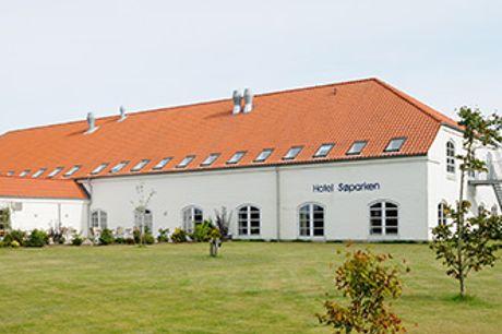 HOTEL SØPARKEN i Aabybro - 2 overnatninger for 2 inkl. eftermiddagskaffe, aftensmad og morgenbuffet.
