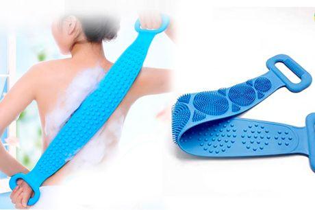 Smart silikonebørste til at rense og skrubbe kroppen når du er i bad