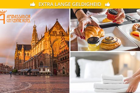 Overnachting + ontbijt voor 2 in hartje Haarlem