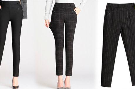 Stilfulde kompression bukser i tætsiddende slim-fit design der giver en flot pasform