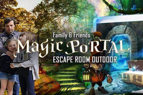 Escape room ao ar livre. Resolva puzzles, mistérios e enigmas em família. Escape Game Magic Portal, em Lisboa, de 2 a 5 pessoas desde 42,50€