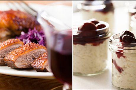 Lækker Mortens Aften middag - Mortens Aften middag for 1 person tirsdag d. 10.11.2020, du får and og risalamande, værdi kr. 299,-