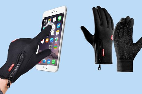 Wind- en waterafstotende handschoenen Nu extra voordelig | 73% korting!  Met touchscreenvinger  Bestand tegen wind en kou