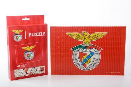 Um puzzle inovador para os apaixonados por futebol! Puzzle Brick do Sport Lisboa e Benfica desde 16,90€