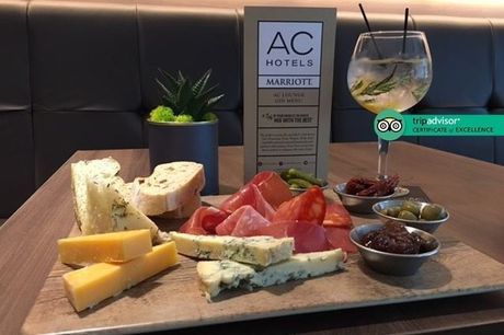 £25 for six gin drinks at 4* AC Hotel Marriott Salford Quays with mixers plus a sharing platter for two people - taste gins including Bloom Gin, Beefeater Gin & Edinburgh Gin