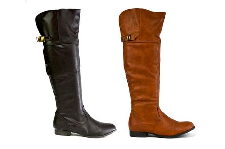 £12.99 for a pair of women's faux leather riding boots in UK sizes 2-9 from Shoe Fest