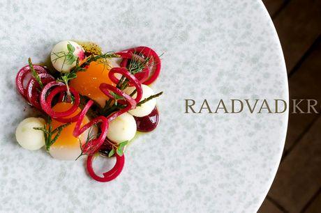 3-retters aftenmenu på Raadvad Kro. En middag i historiske omgivelser - langt inde i skoven ...