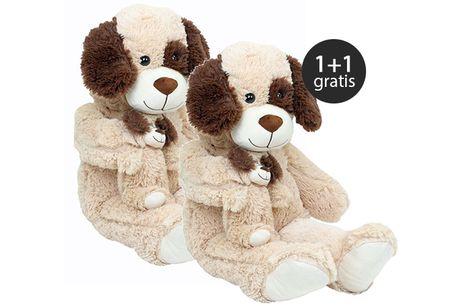 Knuffel Hond & Puppy - 80cm 1+1 Gratis