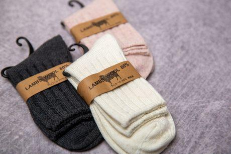 Kom varm igennem vinteren med ultrabløde og lune uldsokker til kvinder i den skønneste lammeuldsblanding - inkl. fri fragt