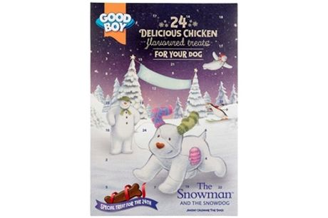 One or Two Snowman Dog Treat Advent Calendars