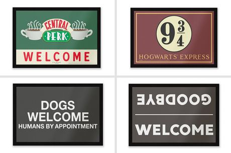 £6.99 instead of £12.99 for a fun doormat from IWOOT - save 46%
