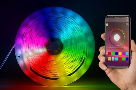 Tira de luces LED de colores con sistema Bluetooth