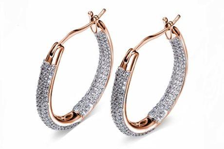 """Pendientes adornados con cristales de Swarovski®, estilo """"Inside out"""""""