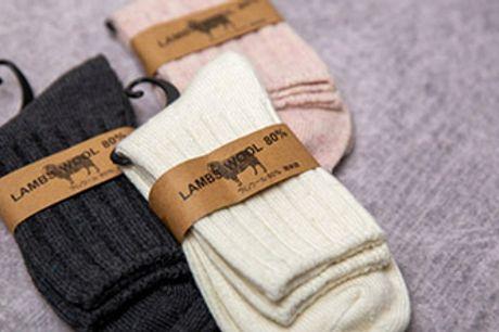 Ultra bløde og lune uldstrømper til kvinder. Du får 3 par til 109 kr. inkl. fragt.