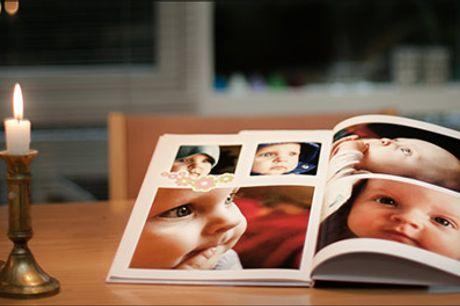 Gem de bedste minder i en flot fotobog! - En fotobog fra Fotosjov.dk, vælg ml. 2 tilbud, værdi op til kr. 746,-